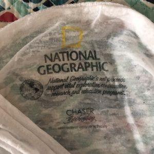 National Geographic Tops - 🚗😊Nat Geo Sheer White Panda Tee